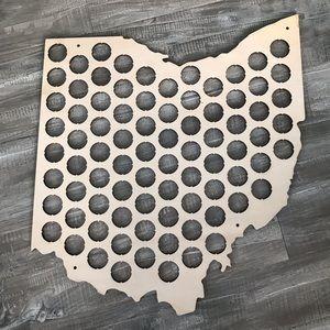 Ohio Accents - *NWOT* Wooden Ohio Bottle Cap Holder 🍻😎